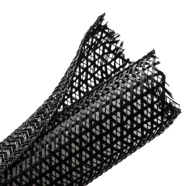 "[HTSW0B] HELLERMANN 0.5"" SPLIT WRAP BRAIDED SLEEVING - 75'"